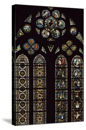 Detail of Stained-Glass Windows Commemorating Apparitions--Stretched Canvas Print