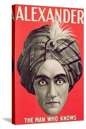 Poster of the Magician Alexander, C.1926--Stretched Canvas Print