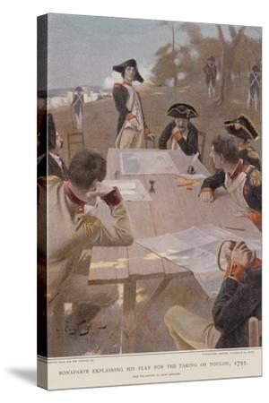 Bonaparte Explaining His Plan for the Taking of Toulon--Stretched Canvas Print