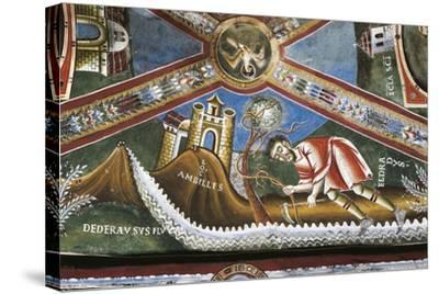 Life of St. Nicholas of Bari, Detail from Cycle of Frescoes, St. Eldrado Chapel--Stretched Canvas Print