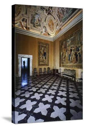 Ceiling Detail, Hall of David, Lateran Palace, Rome, Vatican City, Italy, 16th Century--Stretched Canvas Print