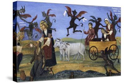Fresco of the Porch, Rila Monastery--Stretched Canvas Print