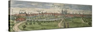 Germany, Halle, View of Halle an Der Saale City--Stretched Canvas Print