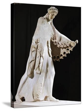Marble Statue of Athena from East Pediment of Temple of Athena Polis Depicting Gigantomachy--Stretched Canvas Print