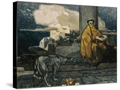 Austria, Vienna, Illustration of Dante Alighieri's Divine Comedy--Stretched Canvas Print