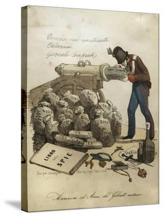 Weapons and Ammunitions of Austrian Ministry, Anti-Austrian Venetian Satire--Stretched Canvas Print