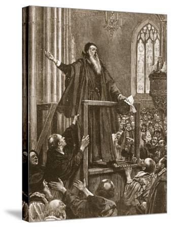 Cranmer's Last Testimony--Stretched Canvas Print