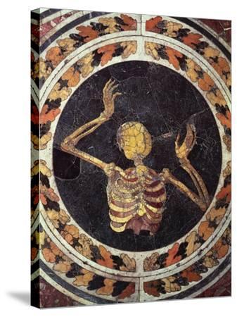Skeleton Pleading, Detail from Marble Floor, Cornaro Chapel, Church of Santa Maria Della Vittoria--Stretched Canvas Print