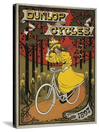 Dunlop Cycles Catalogue. Front Cover, 1897--Stretched Canvas Print