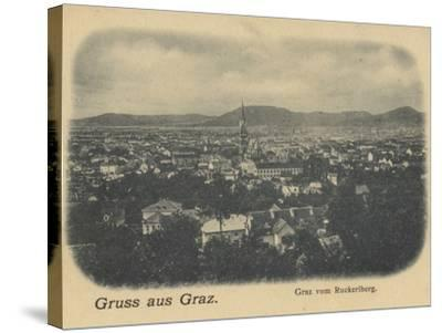 Postcard Depicting a General View of Graz--Stretched Canvas Print