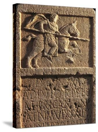 Algeria, Tipasa, Stele Depicting a Roman Knight with a Spear--Stretched Canvas Print