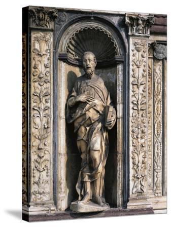 Statue of Apostle Attributed to Cristoforo and Antonio Mantegazza, Left Side of Façade--Stretched Canvas Print