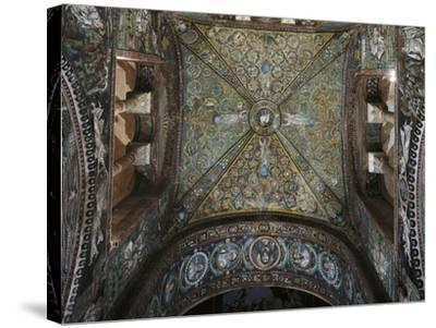Groin Vault of the Presbytery, Basilica of San Vitale--Stretched Canvas Print