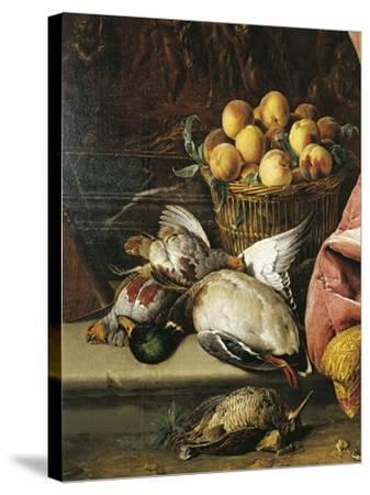 Still Life with Game, Fruit and Viola D'Amore--Stretched Canvas Print