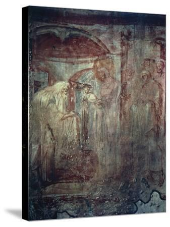 Presentation in Temple, Fresco by Master of Castelseprio--Stretched Canvas Print