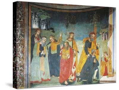 Fresco in Church of Saint Oliva, Cori, Lazio, Italy, 12th-17th Century--Stretched Canvas Print