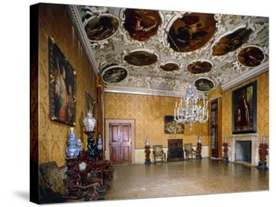 Hall of Brustolon, Ca' Rezzonico, Venice, Veneto, Italy--Stretched Canvas Print