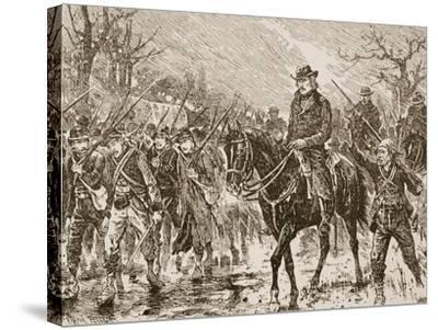 The March to Shiloh--Stretched Canvas Print