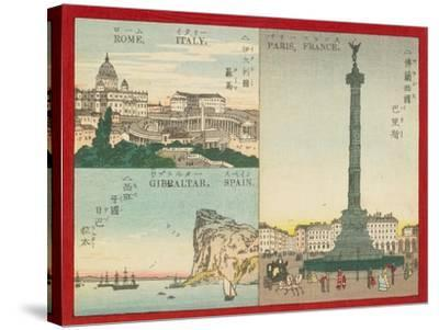 Famous Places in the World - European Cities, 1887--Stretched Canvas Print