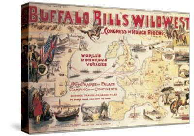 Buffalo Bill's Wild West and Congress of Rough Riders, Poster, 1892--Stretched Canvas Print