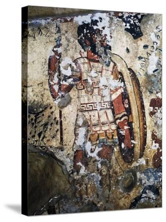 Figure of Warrior, Fresco of Tomb of Orcus, Necropolis of Tarquinia--Stretched Canvas Print