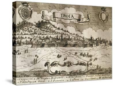 Italy, Troia, View of Troia--Stretched Canvas Print