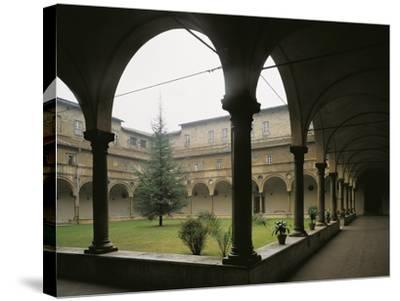 Glimpse of Cloister, St Benedict Abbey of San Giovanni Evangelista, Parma, Italy, 16th Century--Stretched Canvas Print