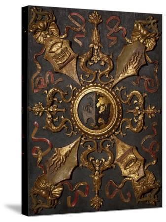 Italy, Emilia-Romagna, Ferrara, Palazzo Schifanoia, Hall of Virtue Decoration--Stretched Canvas Print