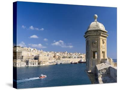 View of Valletta with Grand Harbor Seen from Senglea, Valletta, Malta-Martin Zwick-Stretched Canvas Print