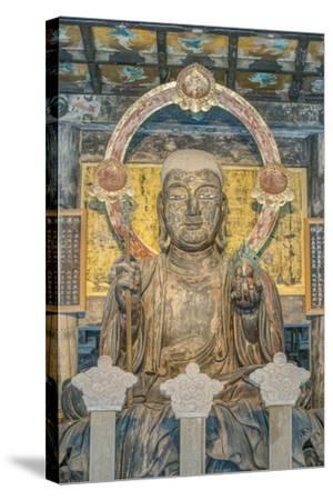 Japan, Kanagawa, Kamakura, Kenchoji Temple Buddha-Rob Tilley-Stretched Canvas Print