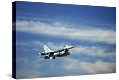 A U.S. Air Force F-16 Fighting Falcon Aircraft--Stretched Canvas Print