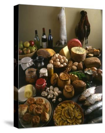 British Country Fare--Stretched Canvas Print
