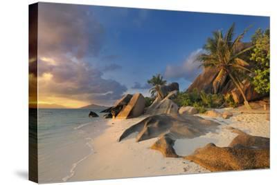 Tropical Island La Digue-Cornelia Doerr-Stretched Canvas Print