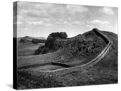 Hadrian's Wall-J. Chettlburgh-Stretched Canvas Print