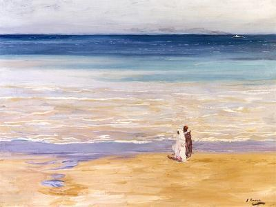 A West Wind-Sir John Lavery-Stretched Canvas Print