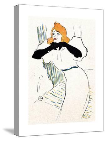 Yvette Guilbert, Lautrec-Henri de Toulouse-Lautrec-Stretched Canvas Print