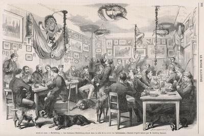 Heidelberg University Students 1870--Stretched Canvas Print