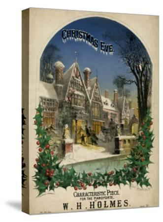 Christmas Eve Visiting-Alfred Concanen-Stretched Canvas Print