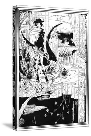 Siegfried-Aubrey Beardsley-Stretched Canvas Print