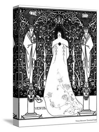 Venus Between Terminal Gods-Aubrey Beardsley-Stretched Canvas Print