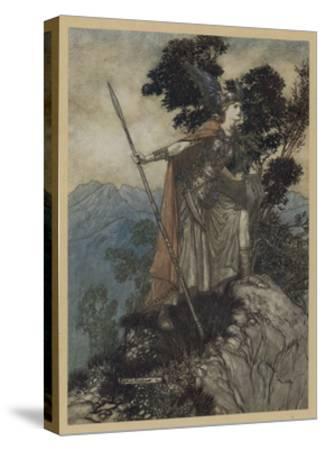 Brunnhilde-Arthur Rackham-Stretched Canvas Print