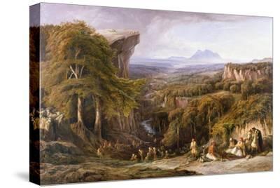 Mount Tomohrit, Albania-Edward Lear-Stretched Canvas Print
