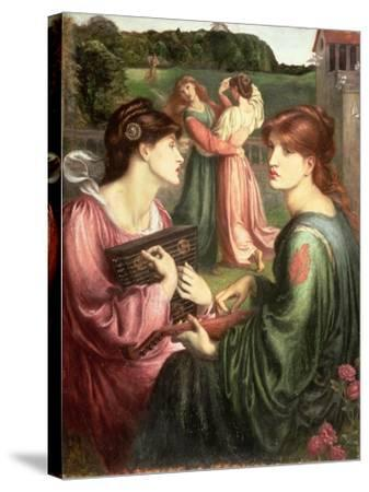 The Bower Meadow, 1850-72-Dante Gabriel Rossetti-Stretched Canvas Print