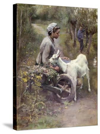 Jean, Jeanne and Jeannette, Exh.1892-Elizabeth Adela Stanhope Forbes-Stretched Canvas Print