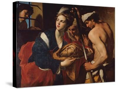 Salome with the Head of John the Baptist-Massimo Stanzioni-Stretched Canvas Print