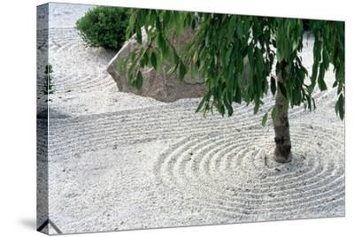 Zen Garden Showing Sand Circles--Stretched Canvas Print