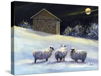 January Fleece-Jerry Cable-Stretched Canvas Print