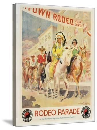 Rodeo Parade--Stretched Canvas Print