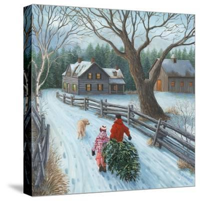 Christmas on the Farm-Kevin Dodds-Stretched Canvas Print