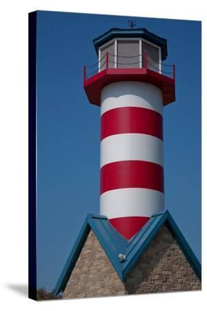 Grafton Illinois Red and White Striped Lighthouse-Joseph Sohm-Stretched Canvas Print